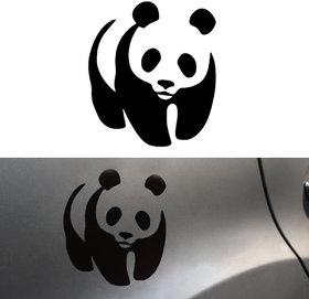 BLACK PANDA Vinyl Decal Sticker Car Window Bumper Wall Bear JDM EURO