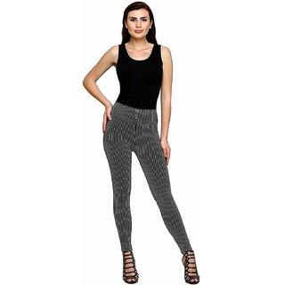 Minha Jeggings / Striped Jeggings / Ankle Length High Waist Jeggings For WomenLegging