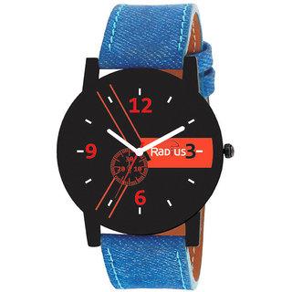 Radius Orange Quartz Analog Blue Strap Round Dial Men's Watch