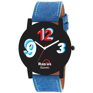 Radius Multicolour 3D Shade Blue Strap Round Dial Men's Watch