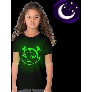 Crazy Prints Vampirina Girl Glow in Dark T shirt for Kids