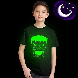 Crazy Prints Glow in Dark Hulk T shirt for Kids