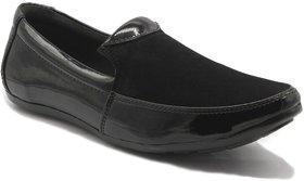Zipx Men'S Black Loafers