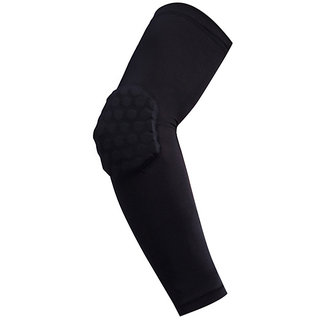Futaba Honeycomb Crashproof Basketball Arm Sleeve Elbow Support - Black - L