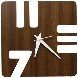 ESLAY Handmade Rectangle Wooden Wall Clock for Living Room/Bedroom/Office/Kids Room/Home/Kitchen