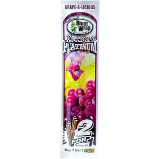 Radise Double Platinum Blunt Wrap Grape - a - Licious Cigar Rolling Paper (2 Blunt Tubes)