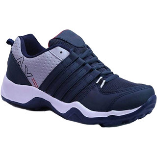 Clymb Navy Synthetic PVC Lace-up Smart Casual Shoes For Men