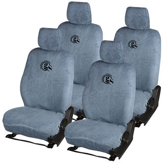 GS-Sweat Control Grey Towel Car Seat Cover for Maruti Suzuki 800