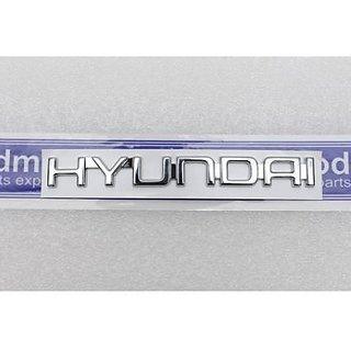 Logo HYUNDAI Monogram Emblem Chrome Graphics Decals Monogram
