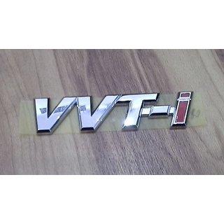 Logo TOYOTA INNOVA FORTUNER ETIOS LIVA COROLLA ALTIS CAMRY VVT-I VVTI Monogram Emblem Chrome Graphics Decals Monogram
