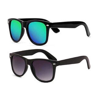Ivonne Combo Of Blue  Black Wayfarer Sunglasses
