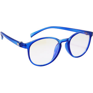 Derry Blue Transparent Round Spectacle Frame With ARC Lenses