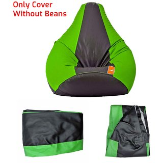 Home Berry Classic Bean Bag - Large size Without Beans -Green/Black ( Cover only )