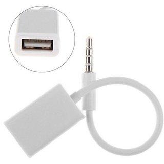 3.5mm Male AUX Audio Plug Jack To USB 2.0 Female Converter Cable