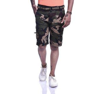 Timbre Multicolor Printed Cargo Shorts