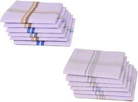 Concepts 100% Cotton Pack of 12 Men's Handkerchief (assorted)