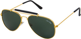 Silver Kartz UV Protected Aviator Unisex Sunglasses - (scwb16255Green)