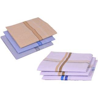 Concepts 100% Cotton Pack of 6 Men's Handkerchief (assorted)