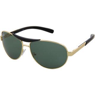 Silver Kartz UV Protected Aviator Unisex Sunglasses - (scwc06755Green)