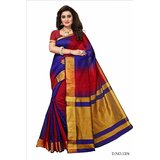 Bhuwal Fashion Woven Daily Wear Silk Cotton Blend Saree BF5164RedPurple