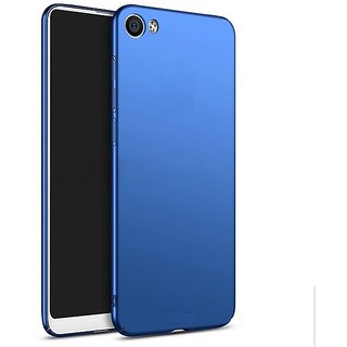pretty nice 664f0 96717 Soft Silicone Shinning Plating Design Case Cover For Vivo Y71 - Blue