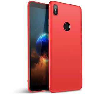 Soft Silicone Shinning Plating Design Case Cover For Xiaomi Mi A2 - Red