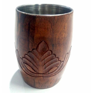 Phirkcraft Wooden Glass Tumbler/ Drinking Glass/ Hand-carved Tumbler