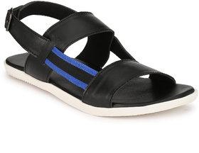 ZebX Men Black Casual Sandals