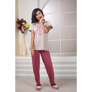 9cedf12f65f7 Lenissa Women s Night suits - Night Dress - Loungewear - Printed - Half  Sleev - Pyjama