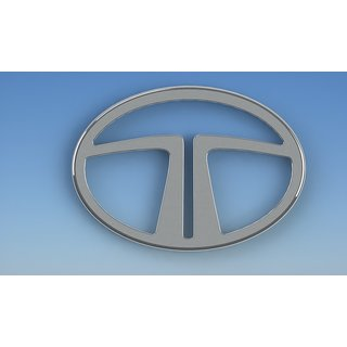 Logo TATA INDIGO MANZA Front Grill Monogram Emblem Chrome Graphics Decals Mono