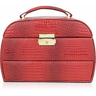 AVMART Designer Makeup, Jewellery, Multi Purpose (Red) 1 Vanity Box (AAJEBO022B-1)