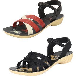 Super Women/Girls Combo Pack of 2 Fashion Sandals
