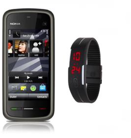 Nokia 5233 /Good Condition/Certified Pre Owned(6 Month WarrantyBazaar Warranty) With free Digital Watch