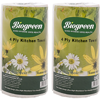 Biogreen paper towel 4ply (pack of 4)