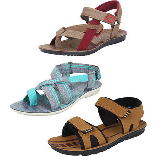 Armado Multicolor Canvas PVC Slip on Casual Sandals Pack Of 3