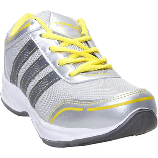 Tomcat Men Silver Yellow Sports Shoes