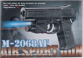 AKSHATA Air Sports M 2068 Air Mouser Toy Gun With Laser (Color - Black)