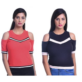 c44013d7c Buy Timbre Women Stylish Tops Combo pack of 2 Online - Get 68% Off