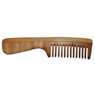 Rkd Natural Neem Wood Comb For Hair Regrowth