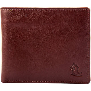 Kara Men Tan Leather Solid Two Fold Wallet-Onesize-Tan