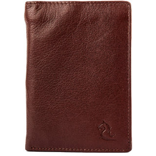 Kara Men Tan Solid Leather Two Fold Wallet-Onesize-Tan