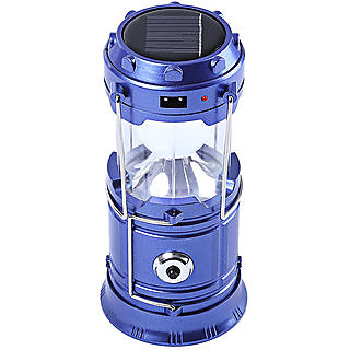 Favourite Deals  Solar Camping lamp Outdoor Lighting Portable Camp Tent Lamp Rechargeable lantern ( Blue )