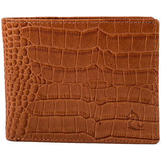 Kara Men Camel Textured Two Fold Wallet-STANDARDSIZE-Camel