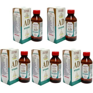 AD Vitamin Oil - Baby Massage Oil - Ad Oil For Baby Massage - Baby Care Product (Buy 4 Get 1 Free)