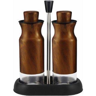 Home Puff Metal Nested Oil Dispenser  Oil Pourer Bottle Leak Proof 2 PC Set, Copper, 335ml