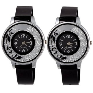 R P S fashion new looked  fancy girl combo pack 2 watch 6 month warranty