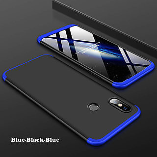 outlet store 499ae a4ea9 Redmi Note 5 Pro Black Blue Colour 360 Degree Full Body Protection Front  Back Case Cover Standard Quality