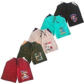Kavin's Trendy and attractive Shorts for boys,Pack of 5,Multicolored - Jovy