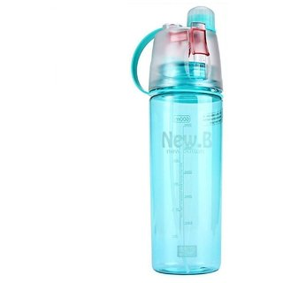 0d21e7aefc Mist Spray Water Bottle For Sports Outdoor Cycling Sports Gym  Drinking(Random Color) 600 ml Bottle (1Pcs)