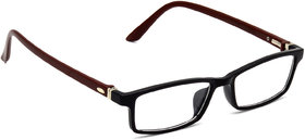 HRINKAR Black Rectangle and Square Bifocal and Single Vision Latest Optical Spectacle Chasama Frame - HFRM-BK-BWN-12